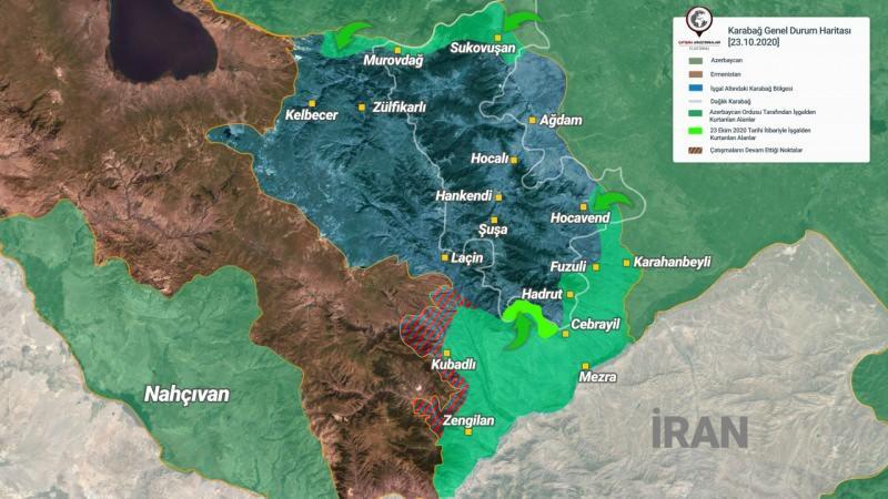 23 Ekim son durum haritası