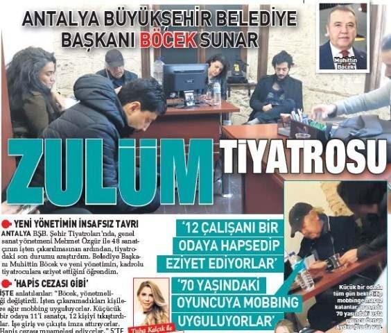 sabah gazetesinin günaydın ekinde gündeme gelen haber