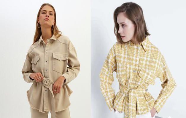 Kemer takılmış ceket modası