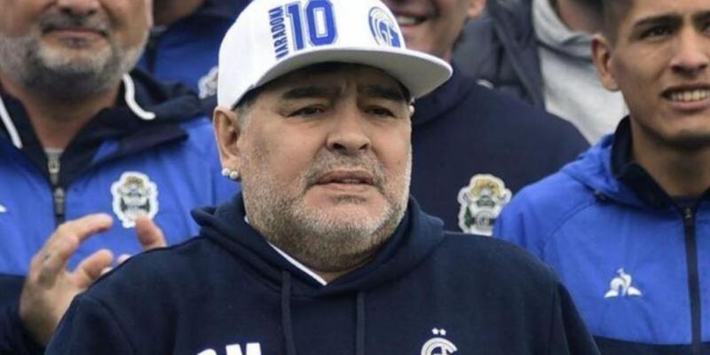 Maradona'nın son zamanlarından bir kare...