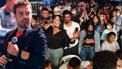 Murat Dalkılıç'ın konserinde koronavirüs unutuldu! Maskesiz ve dip dibe...
