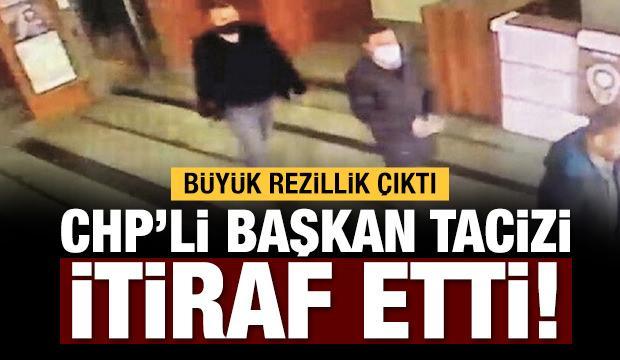 CHP'li başkan tacizi itiraf etmiş