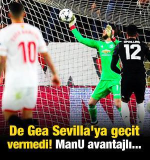 De Gea Sevilla'ya geçit vermedi! ManU avantajlı...