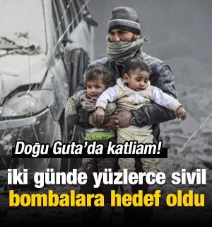 Doğu Guta'da İki günde yüzlerce sivil katledildi