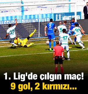 1. Lig'de çılgın maç! 9 gol, 7 sarı, 2 kırmızı...