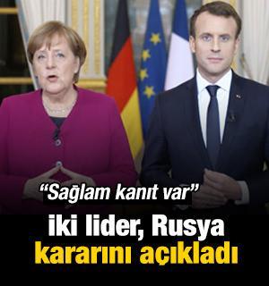 Almanya ve Fransa'dan Skripal kararı