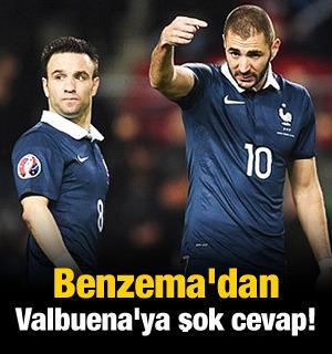 Benzema'dan Valbuena'ya şok cevap!