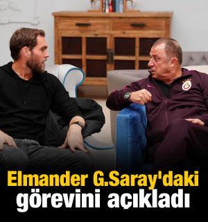 Elmander G.Saray'daki görevini açıkladı