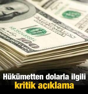 Hükümetten dolarla ilgili kritik açıklama!