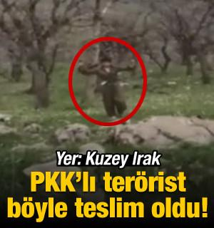 Kuzey Irak'ta teröristin teslim olma anı kamerada!