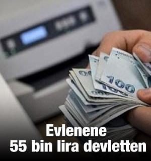 Rakamlar yükseldi! Evlenene devletten 55 bin lira
