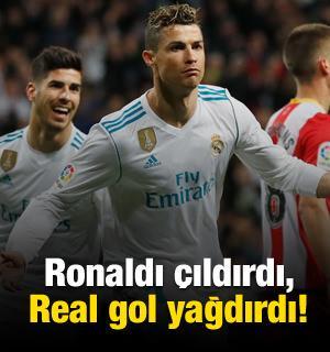 Ronaldı çıldırdı, Real gol yağdırdı!