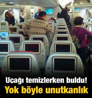 Uçağı temizlerken buldu! Yok böyle unutkanlık