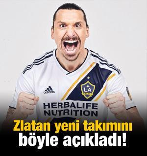 Zlatan yeni takımını böyle açıkladı!