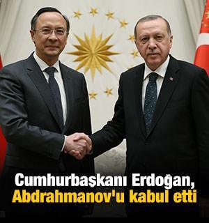 Cumhurbaşkanı Erdoğan, Abdrahmanov'u kabul etti
