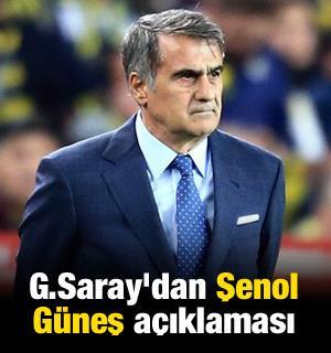 Galatasaray'dan Şenol Güneş açıklaması