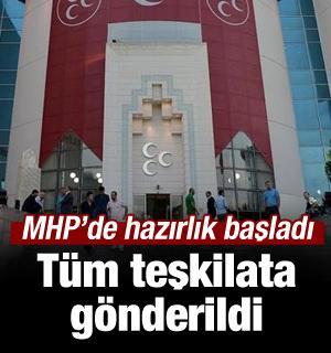 MHP'den seçim kitabı