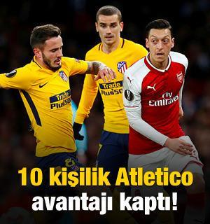 10 kişilik Atletico Madrid avantajı kaptı!