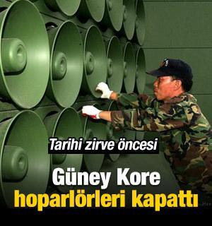 G. Kore, K. Kore sınırındaki hoparlörleri kapattı