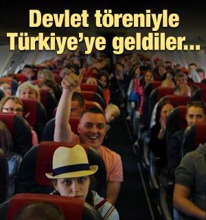 Devlet töreniyle Türkiye'ye geldiler