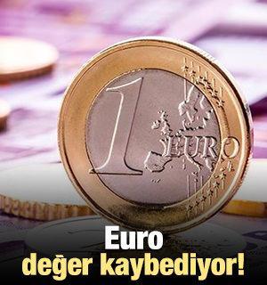 Euro değer kaybediyor!