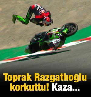 Toprak Razgatlıoğlu'ndan korkutan kaza!