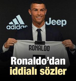 Cristiano Ronaldo'dan iddialı sözler!