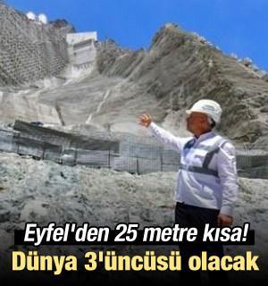 Eyfel'den 25 metre kısa! Dünya 3'üncüsü olacak