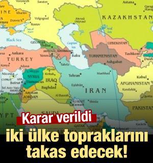 İki ülke topraklarını takas edecek!