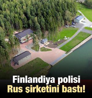 Finlandiya polisi Rus şirketini bastı