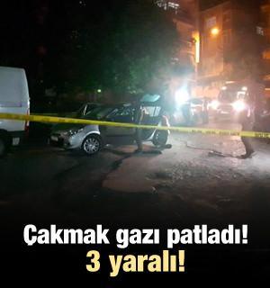 Otomobilde çakmak gazı patladı: 3 yaralı