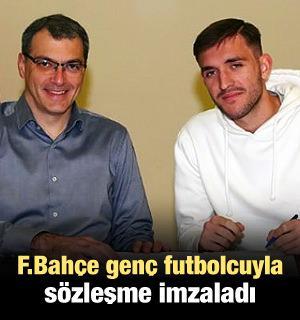 F.Bahçe genç futbolcuyla sözleşme imzaladı