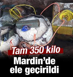 Mardin'de 350 kilogram patlayıcı ele geçirildi