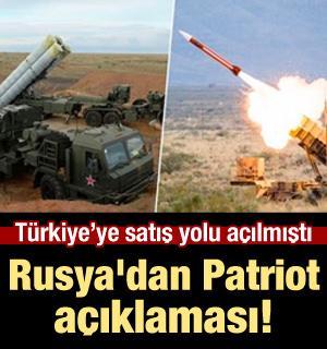 Rusya'dan Patriot açıklaması! S-400'leri...