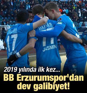 Erzurum'dan dev galibiyet! 2019'da ilk kez...