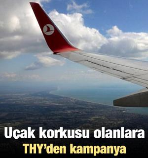 Uçak korkusu olanlara THY'den kampanya