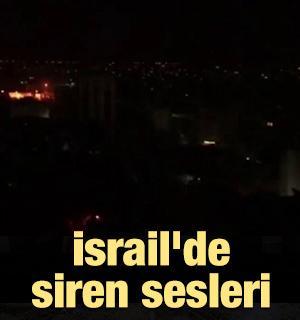 İsrail'de siren sesleri
