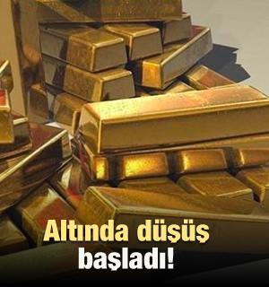Altının kilogramı 250 bin 450 liraya geriledi