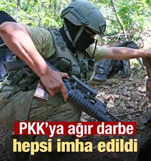 Diyarbakır'da PKK'ya ağır darbe! İnleri dağıtıldı