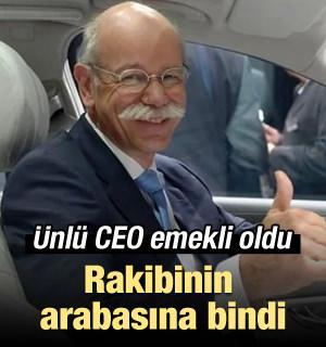 Ünlü CEO emekli oldu rakibinin arabasına bindi