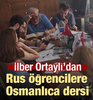 İlber Ortaylı Rus öğrencilere Osmanlıca öğretiyor