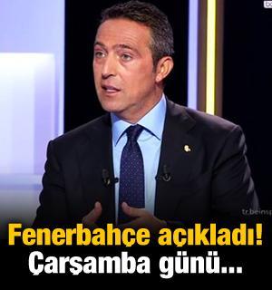 Fenerbahçe açıkladı! Çarşamba günü...
