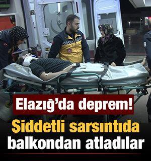 Elazığ'da deprem nedeniyle 4 kişi yaralandı