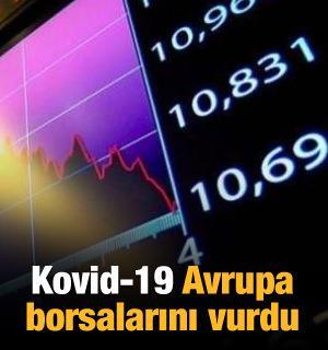 Kovid-19 Avrupa borsalarını vurdu