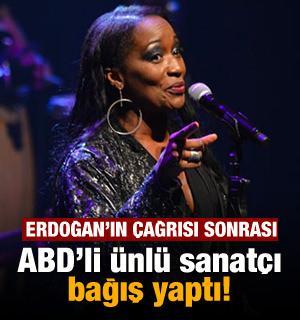 Erdoğan'ın çağrısı sonrası ABD'li ünlü sanatçı bağış yaptı